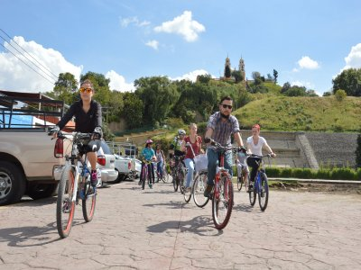 Corn Route by bike in Cholula 5 hours