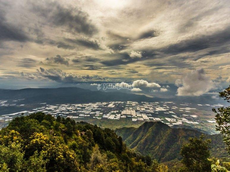 Paisajes desde la cima de Cerro Viejo