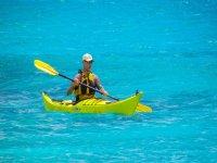 Enjoying the kayak ride