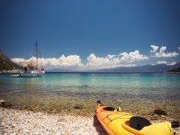 Kayak on the shore of the coast of Vallarta