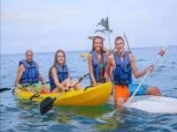 Sailing in kayaks