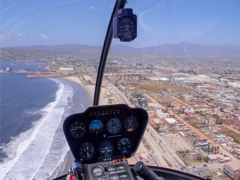 Volando sobre Ensenada