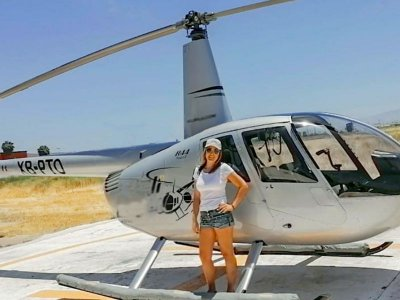 Helicopter flight to the island and coast of Ensenada 45min