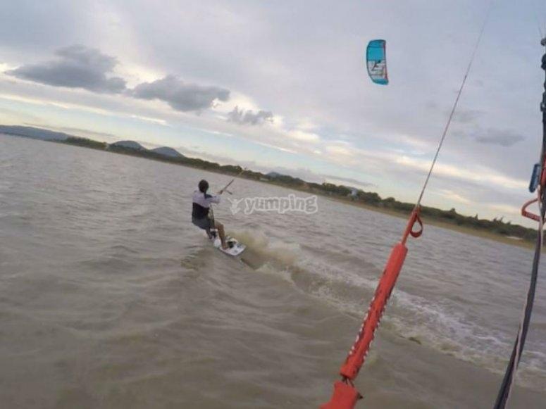 Kitesurf en la Laguna de Atotonilco