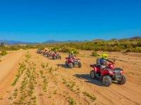 ATV through desert at Rancho Tierra Sagrada