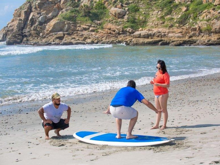 Clase teórica de surf