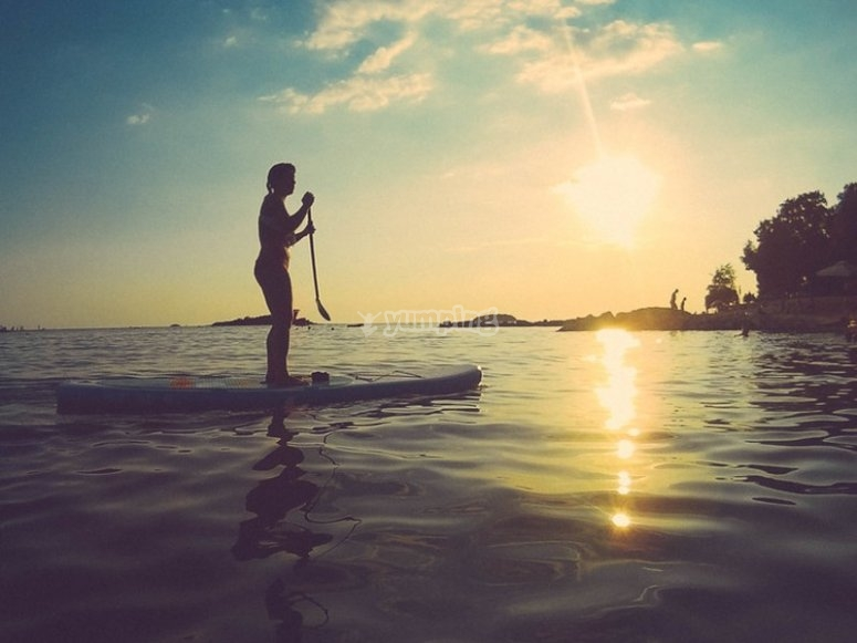 Incredible landscapes while you navigate on your SUP board