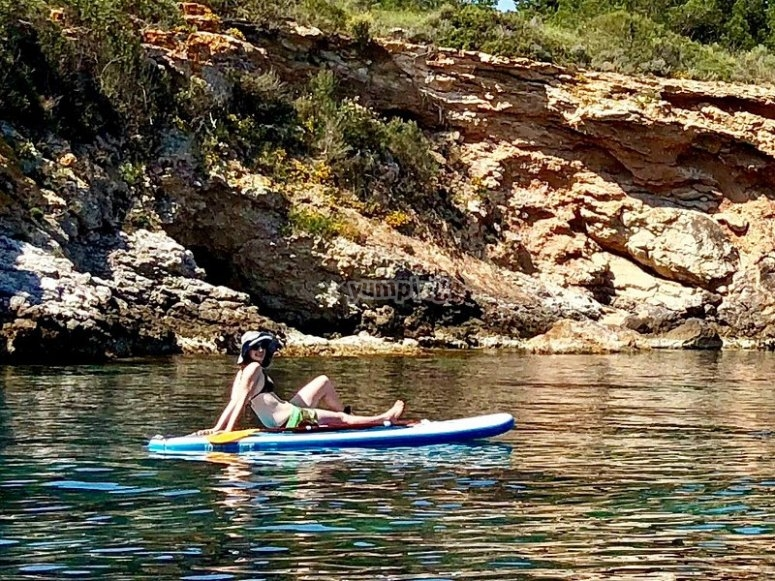 Relax on your board while admiring the landscapes around you