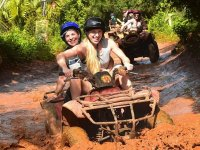 Two-seater ATV and zip lines in Riviera Maya 4hr