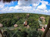 Extreme zip line circuit in Puerto Morelos