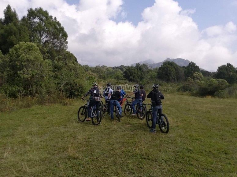 Mountain biking in Tepoztlán