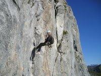 Descending on natural rock
