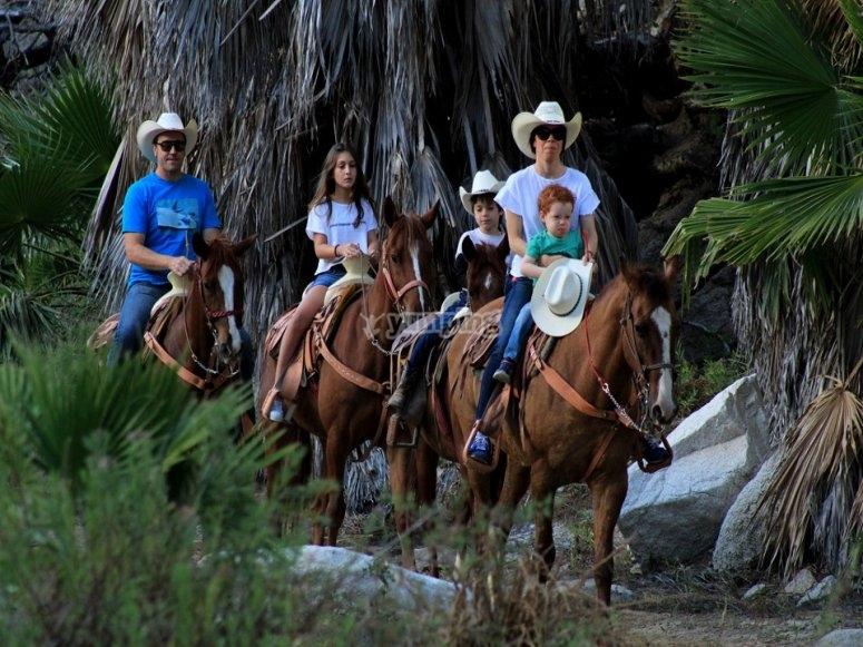 Aventura a caballo por el desierto y un oasis