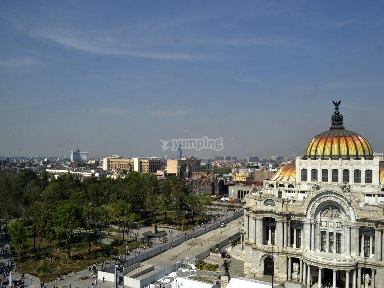 Vista al Palacio de Bellas Artes