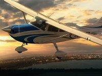 Avioneta para vuelo privado