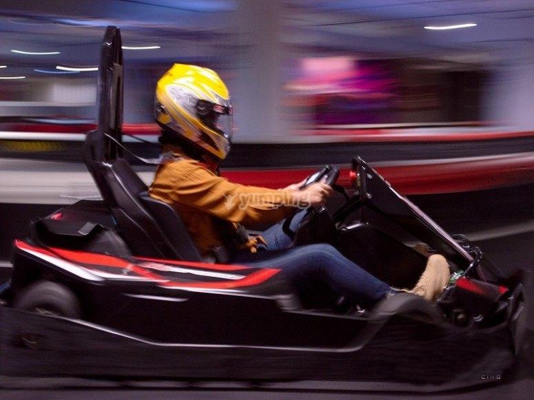 Enjoy the speed aboard your go kart