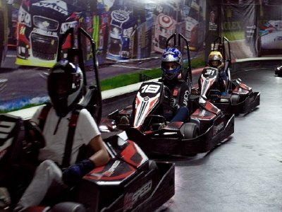 Go kart indoor track 5 races in Coapa