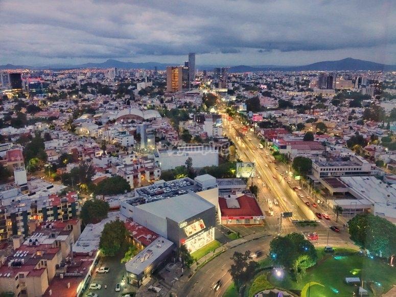 Vue panoramique de la perle de Guadalajara