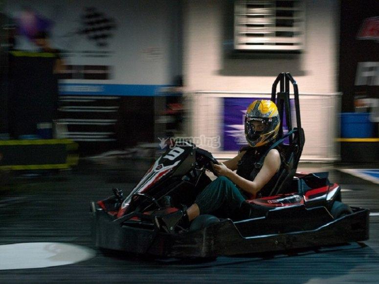 Maximum emotion in your go kart race