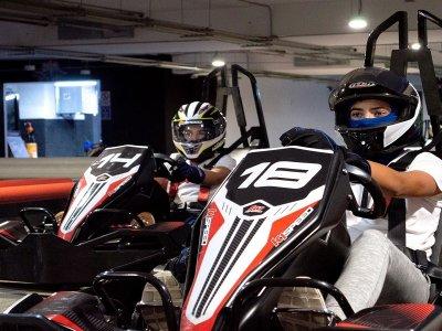 Go kart indoor track 10 races in Coapa