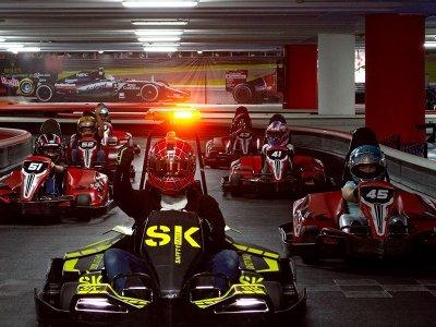 Go kart indoor track 8 races in Santa Fe