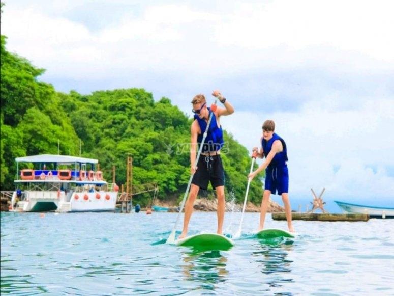 Paddel en Islas Marietas