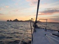 Atardecer desde el barco en Baja