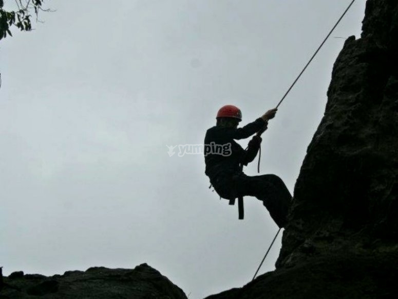 abseiling tepoz