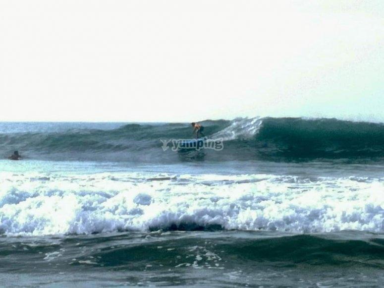 Surf en Ixtapa para niños