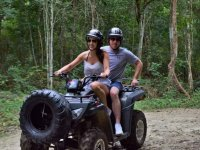 Two-seater ATV, horseback and zipline tour in Cancun