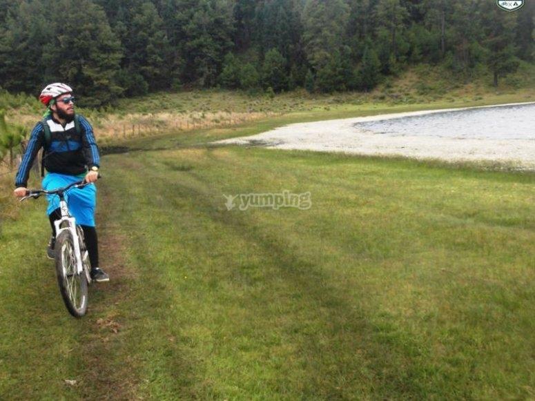 Beautiful landscapes by bike