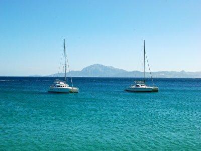 Viaje en catamarán a Isla Mujeres con transporte