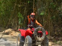 Two-seater ATV tour to cenote and zipline in Cancun