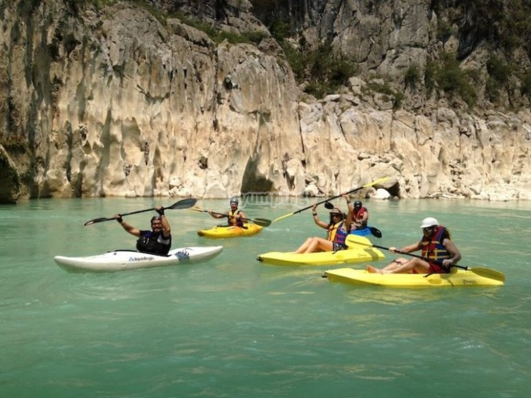Disfrutando el tour en kayak