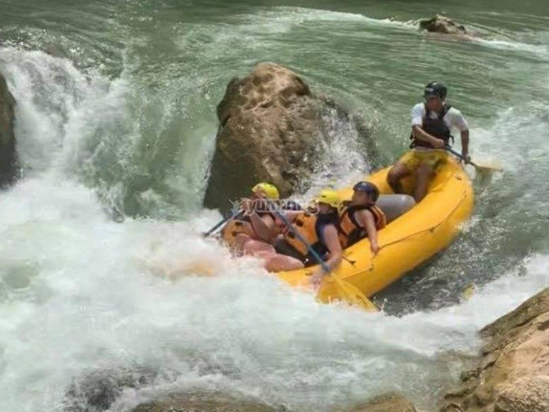 Ríos bravos para rafting