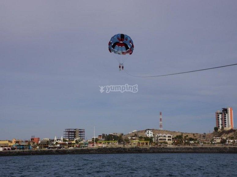 Parachute en Mar de Cortéz