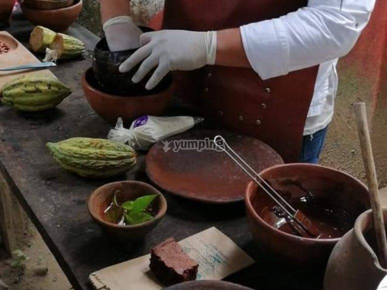Transformando el cacao