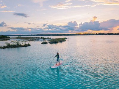 Paddle Surf board rental in Bacalar for 1h
