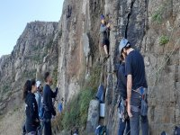 Climbing with friends