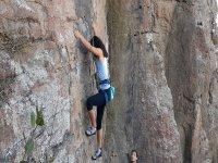 Climbing in natural rock