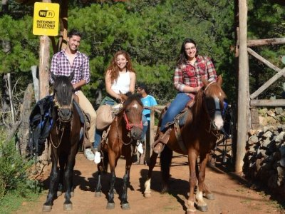Horseback riding at Chipitín waterfall in Santiago 10 hours