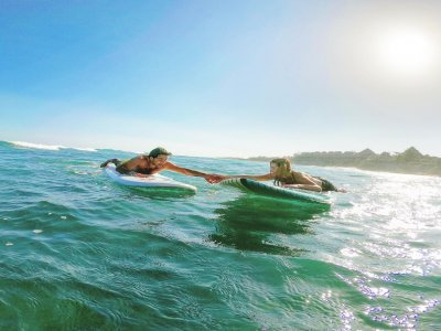 Private surf class in Tulum 1 hour