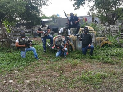 Battle of gotcha with 500 bullets in Zihuatanejo