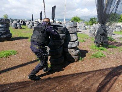 Batalla de gotcha con 500 balas en Tepic