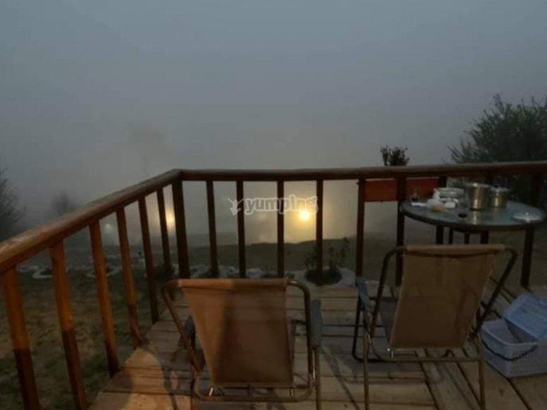 Balcón de la cabaña