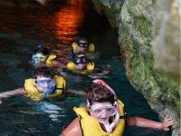 Snorkel in caverns
