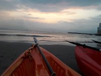 Kayak and coach