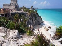 Walk along the spectacular beach of Tulum
