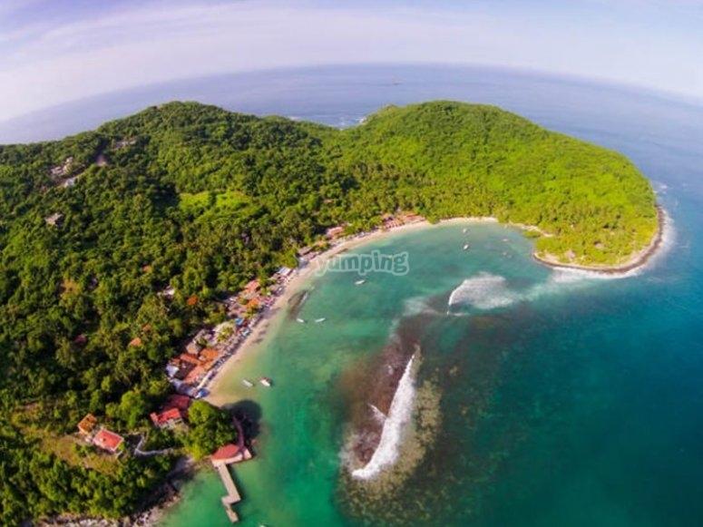 Vista aérea de la bahía