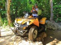 ATV in Mayan jungle